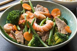 Quick Pork and Shrimp Stir-Fry