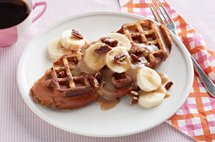 Waffled French Toast with Cinnamon-Maple Cream Image 1