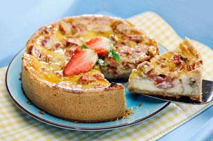 Gâteau au fromage et à la rhubarbe Image 1