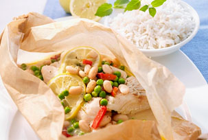 Baked Cod with Veggies en Papillote Image 1