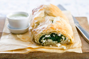 Spinach and Feta Phyllo Roll Image 1