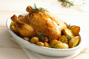 Rosemary Lemon Chicken with Oven-Roasted Potatoes