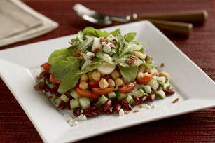 Salade étagée aux haricots et aux légumes Image 1