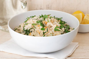 Risotto with Lemon, Arugula and Pine Nuts Image 1