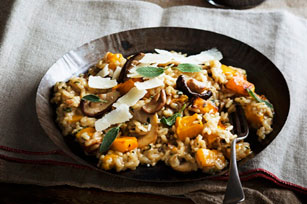 Risotto with Squash, Mushrooms and Sage Image 1