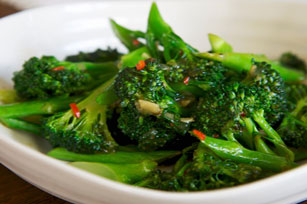 Broccoli with Ginger and Soy