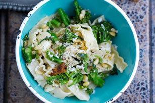 Pasta with Broccoli Rabe, Pine Nuts and Parmesan Image 1