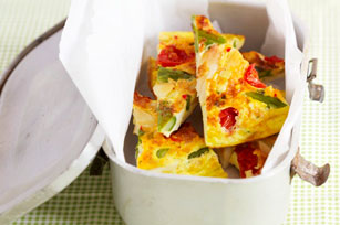 Spanish Omelette with Vegetables and Cheese