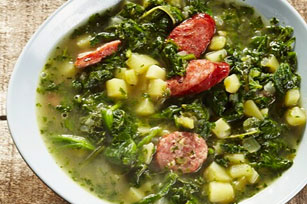 Kale, Potato and Sausage Soup Image 1