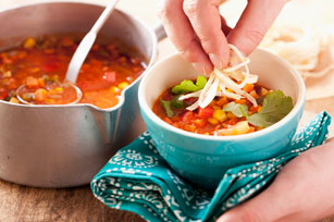 Vegetarian Tortilla Soup Image 1