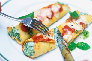 Italian Spinach and Cheese Baked Crêpes