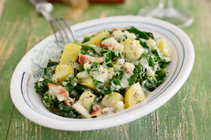 Kale with Potatoes and Bacon