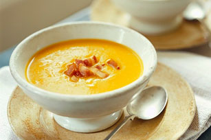 Butternut Squash Soup with Crispy Bacon