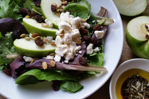 Green Apple Salad with ATHENOS Traditional Crumbled Feta Cheese