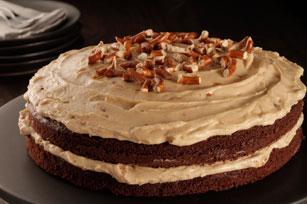 Gâteau étagé au chocolat et au beurre d'arachide Image 1