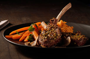 Pistachio-Crusted Lamb Chops