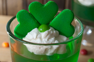 Marshmallow Shamrock JELL-O Cups Image 1