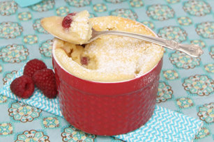 Lemon Raspberry Sponge Pudding Image 1