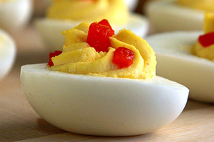 Greek Deviled Eggs with ATHENOS Feta and Lemon Image 1