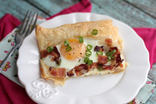 Bacon Asiago Breakfast Pizza Image 1