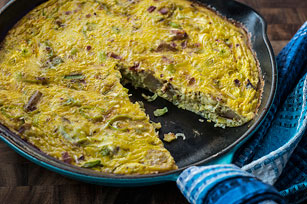 Leek, Potato and Bacon Frittata Image 1