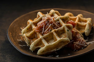Bacon, Chive and Tomato Waffles Image 1