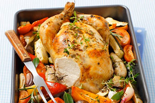 Roast Chicken with Ratatouille Image 1