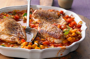 Chicken with Fall Ratatouille