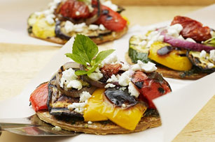 Grilled Ratatouille Pizza