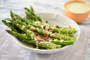Creamy Grilled Asparagus Recipe Image 1