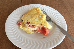 Springtime Smoked Salmon-Cream Cheese Omelet Image 1