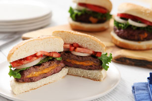 Cheddar-Stuffed Burger