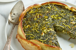 Creamy Spinach Torta in a Potato Crust Image 1