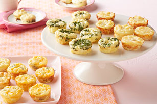 Mini Crustless Spinach and Feta Quiches Image 1