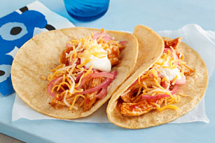 Easy Shredded Chicken Tacos Image 1