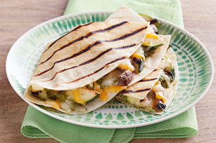 Zucchini, Mushroom and Pesto Quesadillas Image 1