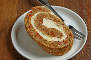 Carrot Cake Roll with Lemon-Cream Cheese Filling