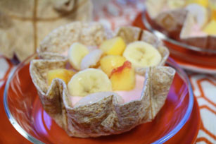 Tortilla Waffle and Yogurt Fruit Bowl Image 1