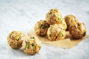 Honey and Pistachio-Peanut Butter Snack Bites