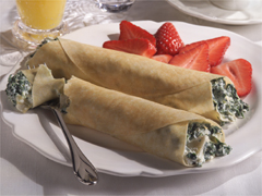 Artichoke Cream Cheese Crepes