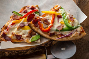 Bacon, Pepper and Mozzarella Pizza