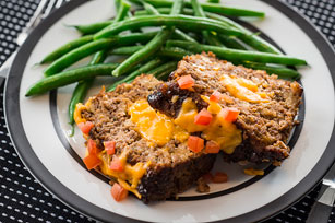 Cheddar-Stuffed Meatloaf