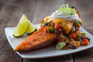 Veggie-Chili Sweet Potato Wedges