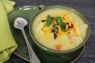 Cheesy Cauliflower Potato Chowder
