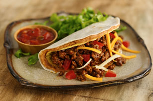 Double-Decker Bean and Beef Tacos Image 1