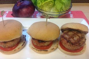 Pork Souvlaki Burgers