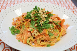Peanut, Sesame and Carrot 'Noodle' Salad Image 1