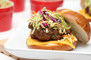 Asian Slaw Hamburger