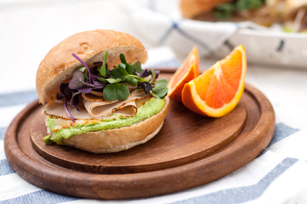 Chicken Sandwich with Creamy Cilantro Sauce Image 1