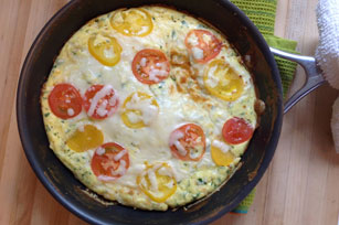 Cheesy Tomato Frittata Image 1